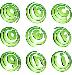 Green vibrant logo set vector