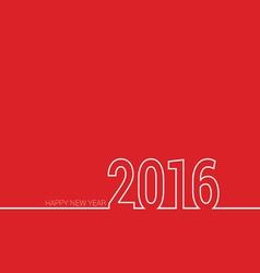 happy new year 2016 color vector image vector image