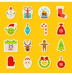 Happy new year stickers vector