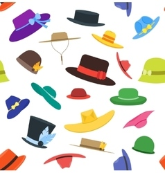 Hats Set Fashion Background Pattern vector image vector image