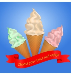 icecream cone vector image