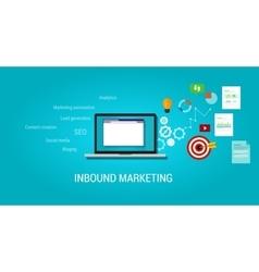 Inbound content blog marketing seo vector