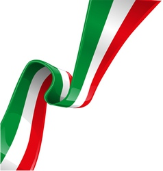 Italian background with flag vector