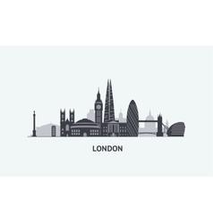 London skyline silhouette vector image vector image