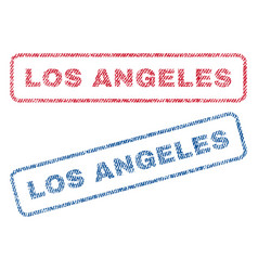 Los angeles textile stamps vector