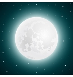 Moon with shining stars sky vector image vector image