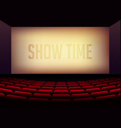 movie cinema or theater hall for film premier vector image vector image