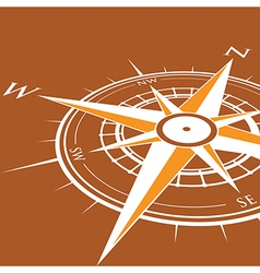 Orange compass vector