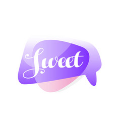 original speech bubble in purple and pink color vector image
