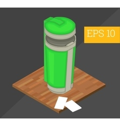 Recycle container isometric vector