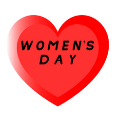 Red heart for womens day with two path and a vector