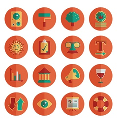 round media icons vector image