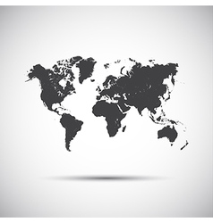 Simple icon map of the world vector image vector image