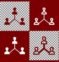 Social media marketing sign bordo and vector