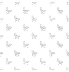 White toilet bowl pattern cartoon style vector