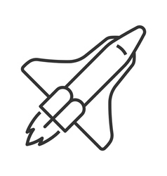 Space shuttle line icon vector