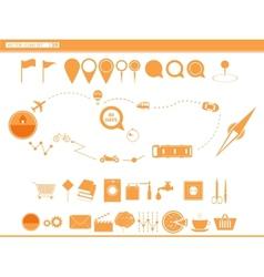 set icons modes of transport navigation vector image