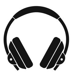 headphone icon simple style vector image