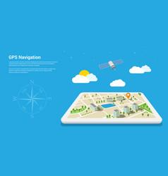 Gps navigation map vector