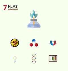 Flat icon science set of attractive force danger vector