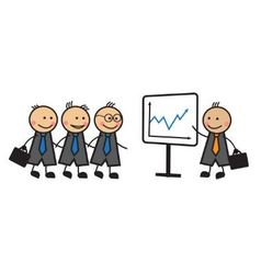 Cartoon Business Presentation vector image