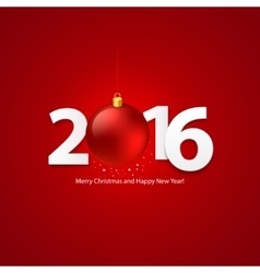 2016 merry chrstmas and happy new year background vector