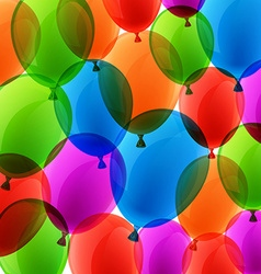 Celebrate colorful background with balloons vector