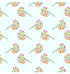 Seamless pattern with elements of wildflowers vector
