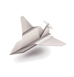 Origami plane isolated on white vector