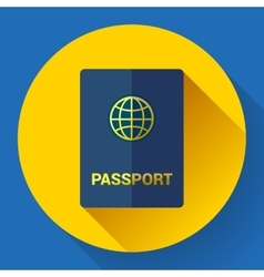 Passport icon flat design vector
