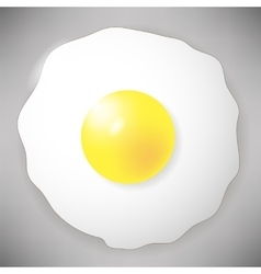 Fried egg icon isolated on grey top view vector