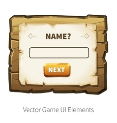 wooden game ui vector image