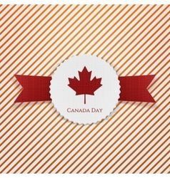Canada day national paper emblem vector