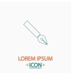 Ink pen computer symbol vector