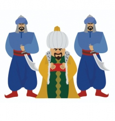 sultan vector image