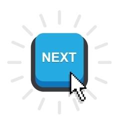 Blue button next vector