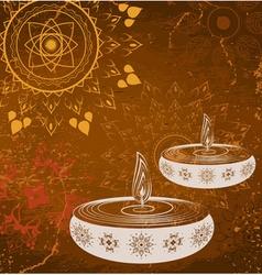 Brown diwali design vector