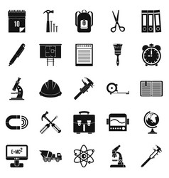 Compass icons set simple style vector