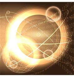 Digital universe vector image vector image