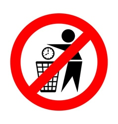 Do not waste time icon vector image