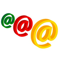 e mail vector image vector image