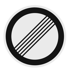 end of all restriction icon flat style vector image