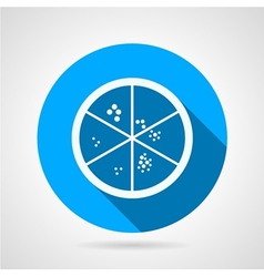 Flat icon for laboratory petry dish vector