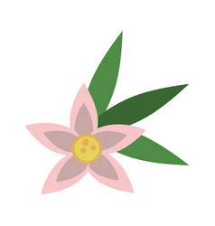 flower with leaves icon image vector image vector image