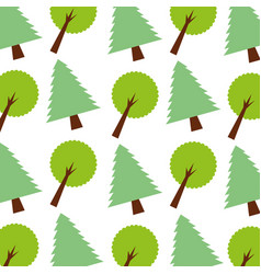 Forest pine tree foliage ecology seamless pattern vector