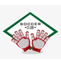 Gloves of soccer sport design vector