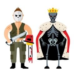 Halloween characters Cartoon vector image