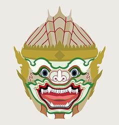 Hanuman head vector