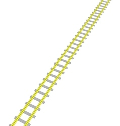 image Yellow railway on white vector image