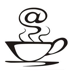 internet cafe symbol vector image vector image